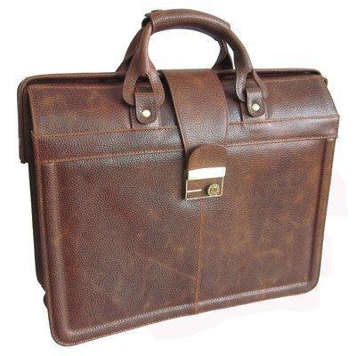AmeriLeather APC Legal Leather Executive Brief (Waxy Brown) - Leather Case Apc
