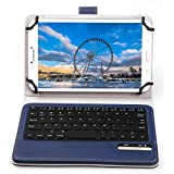 """ASUS Zenpad 8 Z380M Keyboard case, IVSO ASUS Zenpad 8.0 Z380M Case With Keyboard Ultra-Thin High Quality DETACHABLE Bluetooth Keyboard Stand Case / Cover for ASUS Zenpad Z380M-A2-GR 8"""" Tablet(Blue)"""