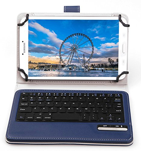 KuGi Asus Zenpad Z10 ZT500KL Keyboard case, Ultra Lightweight Stand Portfolio Cover case with Detachable Wireless Keyboard for Asus Zenpad Z10 ZT500KL Verizon /3S 10 Z500M 9.7-Inch Tablet (Blue)