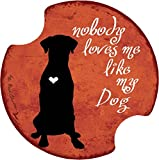 Thirstystone Nobody Loves Me (Dog) Car Cup Holder Coaster, 2-Pack