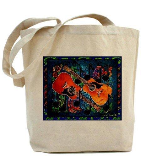 CafePress–Design chitarra Tote Bag–Standard Multi-color da CafePress