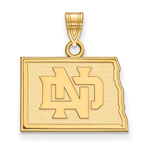 NCAA 14k Yellow Gold North Dakota Small Pendant by LogoArt