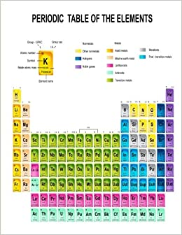 Periodic table of the elements notebook journal 85 x 11 periodic table of the elements notebook journal 85 x 11 chemistry gifts joy tree journals 9781539661252 amazon books urtaz Images