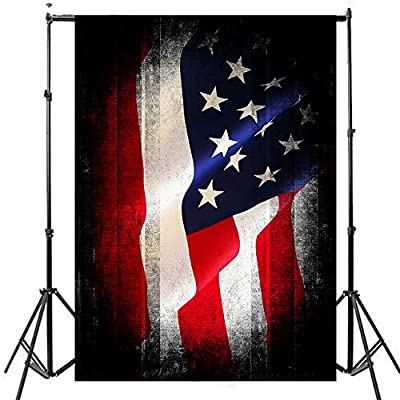 FUT GradeAAAAA Vinyl Fabric Patriotic Banner Photo Studio Stars Red and White Stripes Flags Theme Background Photography Backdrops 5 Styles