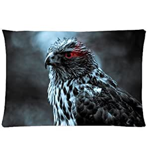 CCTUSGSH Cute Animal Series Cotton Throw Pillow Case Decorative Cushion Cover 20 X 30 Inches One Side