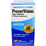 Bausch & Lomb PreserVision Vitamin and Mineral Supplement Tablets, 120-Count Bottles (Pack of 2)