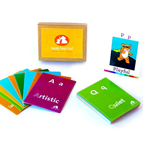 ABC Feelings Flashcards to build Emotional Vocabulary for Kids Ages 3-8 years - Use as a Social Skills Game for Imaginative Play