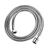 LORDEAR 118 Inches Metal Portable Flexible Extra Long Extension 304 Stainless Steel Handheld Shower Hose, Chrome Finish Replacement Extra Long Shower Hose