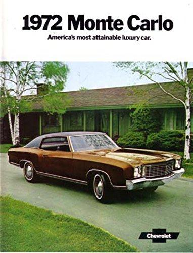 1972 Chevrolet Monte Carlo Sales Brochure Literature Book Advertisement Options