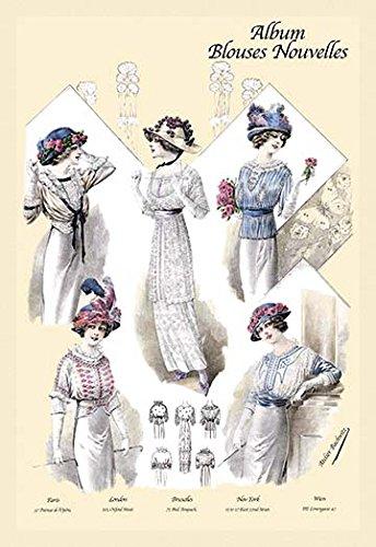 (Album Blouses Nouvelles: Five Jaunty Fashions 12x18 Giclee on)