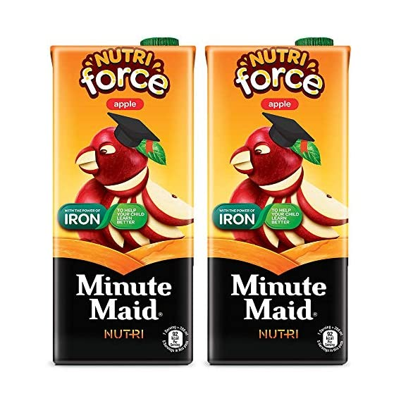 Minute Maid Nutriforce Apple Tetra Pack Pouch, 2 x 1000 ml