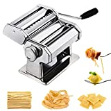 CHEFLY Sturdy Homemade Pasta Maker All in one 9 Thickness Settings for Fresh Fettuccine Spaghetti Lasagne Dough Roller Press Cutter Noodle Making Machine P1801