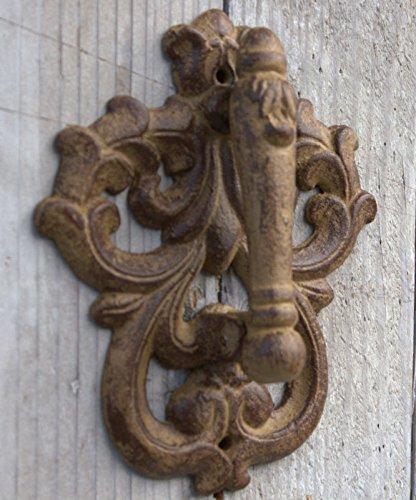 Cast Iron Round Scroll Door Knocker Rustic Brown Finish 1319