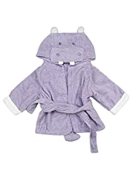 Fezrgea Baby Bathrobe Cartoon Animal Towel Hooded Robe Plush Cotton Pajamas Sleepwear for Boys Girls