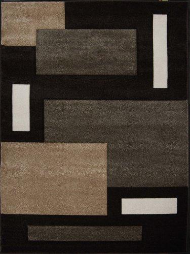 "Home Dynamix Sumatra Tarragon Area Rug 7'8"" x10'2, Geometric Dark Brown"