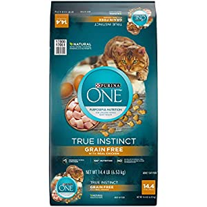 Purina ONE Natural, Grain Free Dry Cat Food; True Instinct Grain Free With Real Chicken - 14.4 lb. Bag 83
