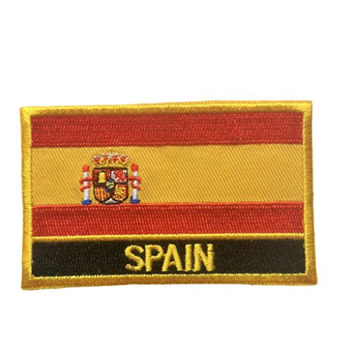 Spain Flag Patch - Spain Flag Patch/Sew-On Morale Tactical Travel Patches by Backwoods Barnaby (Spanish Iron-On w/Words, 2