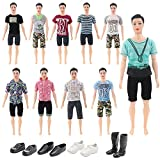 ken doll clothes and accessories - 28 Pieces Ken Clothes Set Including 10 Ken Clothes Doll Clothes Barbie's Boyfriend Clothes 10 Pants Outfits and 4 Pairs of Shoes for Ken Barbie Dolls