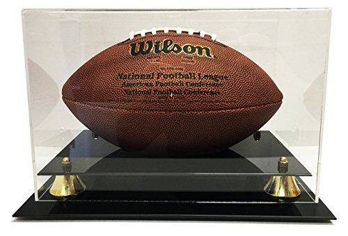 Max Protection Deluxe Acrylic Football Display Case - Clear Back