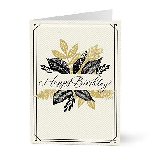 Hallmark Business Birthday Card for Customers (Happy Birthday Leaves) (Pack of 25 Greeting Cards) (Business Cards Bulk Birthday)
