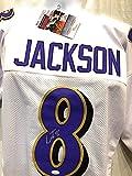 Lamar Jackson Signed Autograph White Custom Jersey