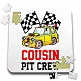 Carsten Reisinger - Illustrations - Pit Crew Cousin Funny Car Race Theme Birthday Party Host - 10x10 Inch Puzzle (pzl_275708_2)