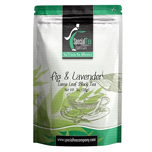 Special Tea Fig and Lavender Loose Leaf Black Tea, 3 Ounce