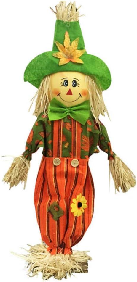 HEALLILY Decoraciones de espantapájaros de Halloween para Adornos de hogar de diseño de Aula de jardín de Infantes (Pantalones de Hombre, tamaño pequeño): Amazon.es: Jardín