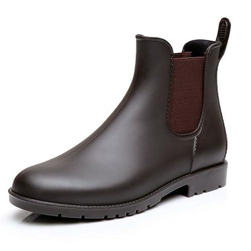 Botines de Plataforma Chelsea Botas con Impermeable Caucho para Mujer (41, Marrón)