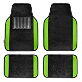 Automotive : FH Group F14407GREEN Premium Full Set Carpet Floor Mat (Sedan and SUV with Driver Heel Pad Green)