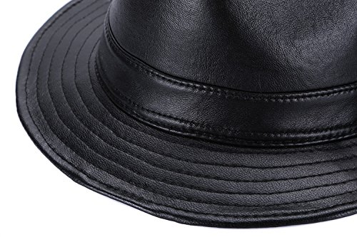 see me happy Mens Genuine Leather Hat Sheepskin Fedora Hat Safari Hat  (4XL)  Amazon.ca  Clothing   Accessories a98460b7081d