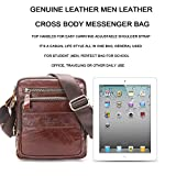 Contacts Genuine Leather Mens Messenger Crossbody