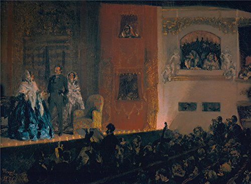 Perfect Effect Canvas ,the Replica Art DecorativeCanvas Prints Of Oil Painting 'Adolph Menzel Theatre Du Gymnase In Paris ', 16 X 22 Inch / 41 X 55 Cm Is Best For Dining Room Decor And Home Gallery Art And
