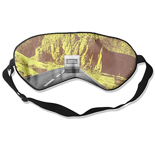 WUGOU Sleep Eye Mask Driving Vehicles Lightweight Soft Blindfold Adjustable Head Strap Eyeshade Travel Eyepatch -