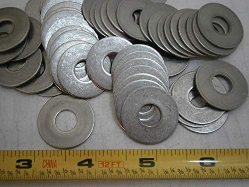 Flat Washers 1.00'' OD .375'' ID .040'' Thick Stainless Steel LOT of - 75#4098 - Quality Assurance from JumpingBolt