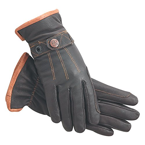 SSG Work 'N Horse Lined Riding Gloves 7 Brown/Natural Trim