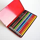 Fantasia Set of 12 Colored Pencils in Metal Tin -Fine Art Drawing Design Pencil Set