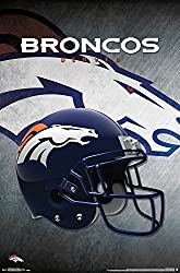 "Trends International Denver Broncos Helmet Wall Posters, 22"" By 34"""