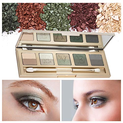 Eve by Eve's Italian Florentine Sunset Eyeshadow Palette Long Lasting Waterproof Makeup Beauty Cosmetics- 85% natural 10 colors - Green]()
