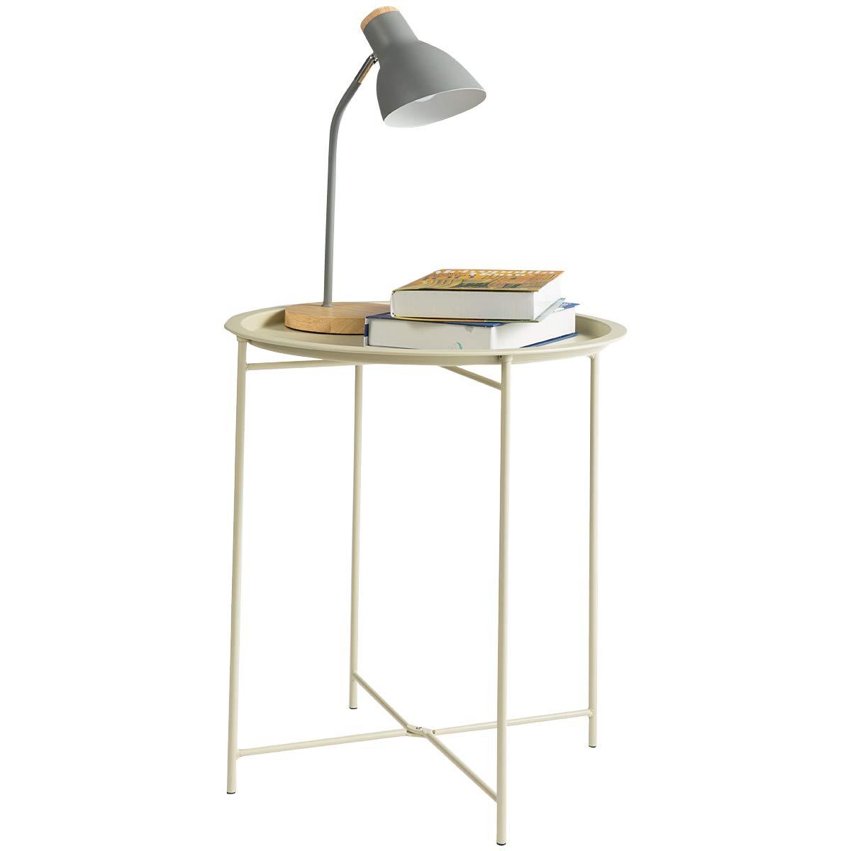 Amazon.com: HollyHOME Mesa redonda plegable: Kitchen & Dining