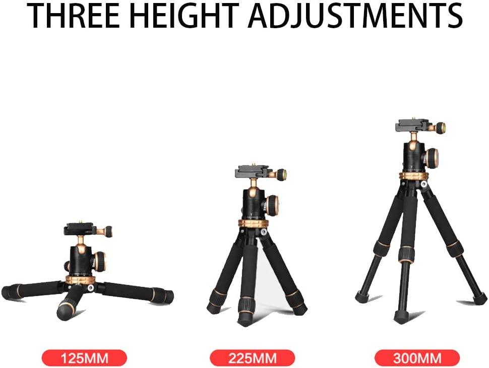 Suitable for Travel Outdoor Photography Recording Video Mini Portable Length 30Cm HUOFEIKE 3Kg Load Camera Tripod,360/° Rotating Small Micro Single Desktop