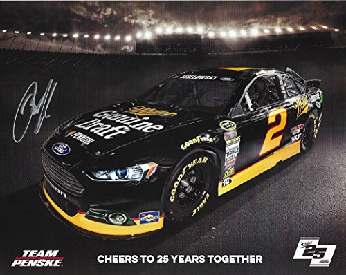 d Keselowski #2 Miller Genuine Draft Racing (Vintage MGD Paint Scheme) Team Penskie 8X10 Signed Picture NASCAR Hero Card with COA (Vintage Miller Genuine Draft)