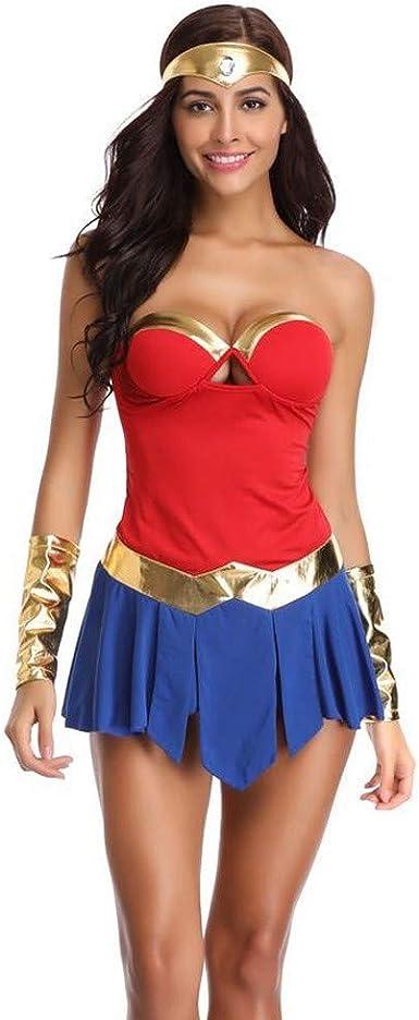 XUHAHAFZ Ropa De Halloween/Guerrero Femenino/Superman / Short ...