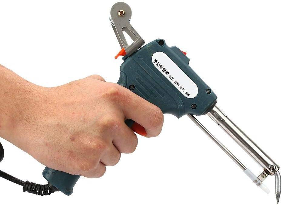 220V 60W Handheld Semi-Auto Send Zinn Externe W/ärme Manuelle Pistole L/ötkolbenstation In sich geschlossener Zinnrahmen Betrieb mit einem Handschwei/ßwerkzeug EU-Stecker #2