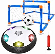 Kids Toys Hover Soccer Ball Set with 2 Goals, Hover Ball Floating Hover Football Toys Kit, Air Soccer Set with