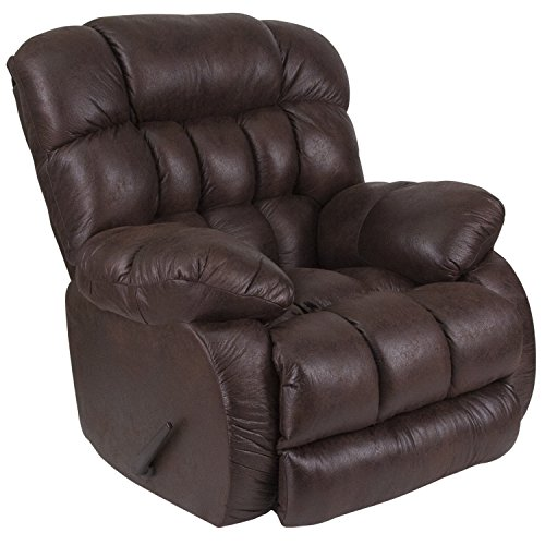 Flash Furniture Contemporary Breathable Comfort Nevada Chocolate Fabric Rocker Recliner