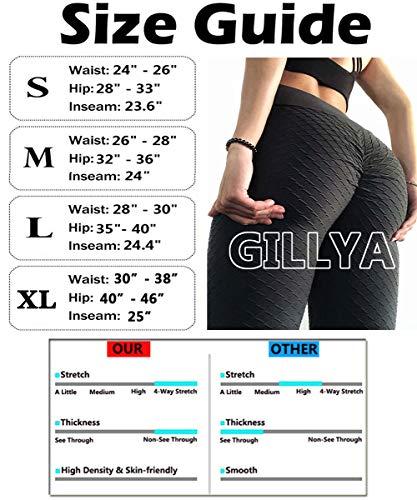 GILLYA Butt Lift Yoga Pants Ruched Butt Leggings Butt Lift Textured High Waisted Booty Lifting Anti-Cellulite Leggings 7