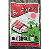 Eco Clean Garbage Trash Waste Dustbin Bags, 19 x 21 Inches / 48 x 54 cms