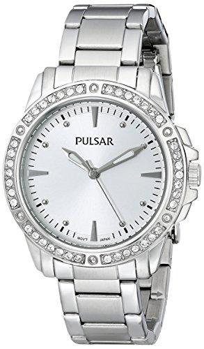 Pulsar Women's PH8091 Night Out Analog Display Japanese Quartz Silver Watch