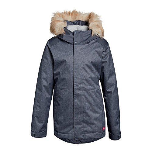 Under Armour Girls' ColdGear Reactor Yonders Parka, Apollo Gray/Penta Pink, Youth Medium by Under Armour